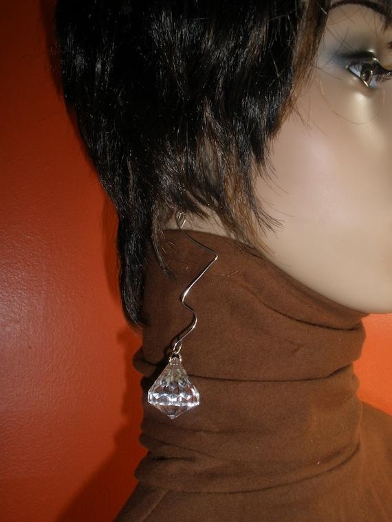 Attractive Long Dangling Crystal Beaded Earrings
