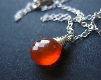 Harvest ... Carnelian and Sterling Silver Necklace