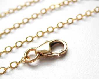 14K Gold Filled Flat Cable Chain... Add a Pendant