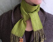 echo scarf - lichen, lime and stone