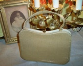 Vintage 1950s Gold Metallic Evening Bag Purse Handbag