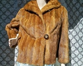 Vintage 1950s Red Russian Sable Fur Jacket