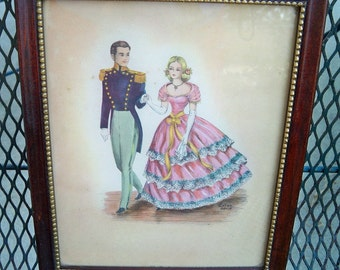 Vintage Stan David Southern Belle Pageant Series Framed Prints