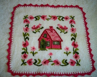 Vintage Country Cottage Kitchen Dishcloth Towel Cannon
