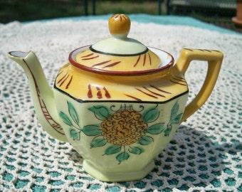 Vintage Childrens Oriental Floral Porcelain Teapot Japan