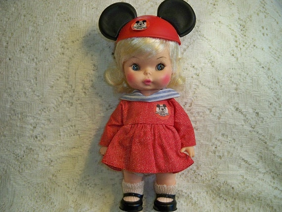 Vintage Walt Disney Mickey Mouse Club Mouseketeer Doll Girl