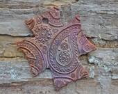 Handmade Copper Just Paisley Coptic Cross Pendant
