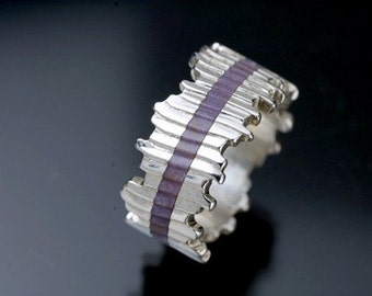 InLayers Purple Chalcedony Cuttlefish Ring