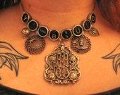 SaLe SaLe SaLe / Vintage Moroccan Hand of Fatima statement necklace