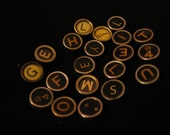 SaLe SaLe SaLe / 18 assorted antique typewriter keys, loose, smooth backs