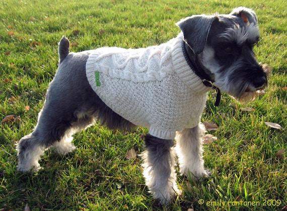 Handknit Fisherman Dog Sweater (M)