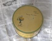 Powder Box Vintage Metal