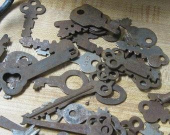 Vintage Keys Rusty Old