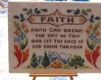 Cross Stitch Faith Verse
