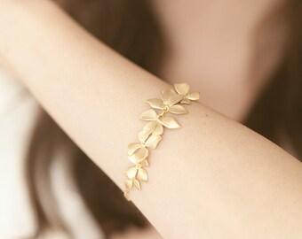 Lit Des Fleurs - Butterfly Wedding flower floral gemstone gem gold sterling silver rhinestone graduation bulk bridesmaid garden forest