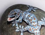 Tokay Gecko Painted Rock