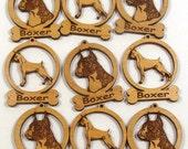 9 Mini Boxer Cropped Dog Ornaments
