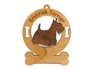 3895 Scottish Terrier Standing Personalized Dog Ornament