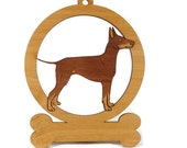 Manchester Terrier Ornament 083536 Personalized With Your Dog's Name