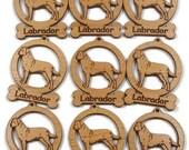 9 Mini Labrador Dog Ornaments