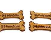 Lot of 4  I Love My Wirehaired Dachshund Dog Breed Pins