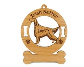 3370 Irish Setter Standing Personalized Dog Ornaments
