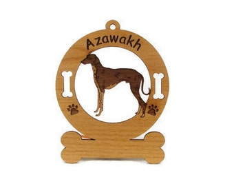 1430 Azawakh Standing  Personalized With Your Dog's Name - Free Shipping