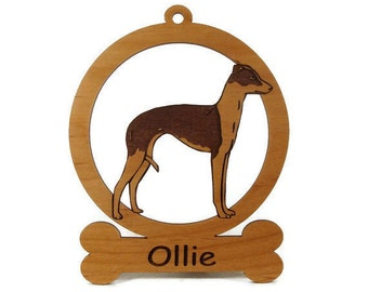 Italian Greyhound Ornament 083406 Personalized With Your Dog's Name