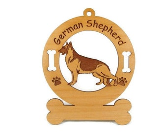 3221 German Shepherd Standing Personalized Dog Ornament