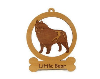 Schipperke Dog Ornament 083872 Personalized With Your Dog's Name