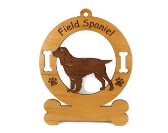 3179 Field Spaniel Standing Personalized Dog Ornament
