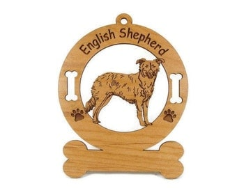 3161 English Shepherd Standing Personalized Ornament - Free Shipping