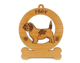 3688 PBGV Standing Personalized Dog Ornament