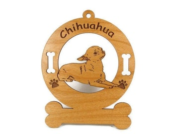 2109 Chihuahua Laying Down Personalized Dog Ornament