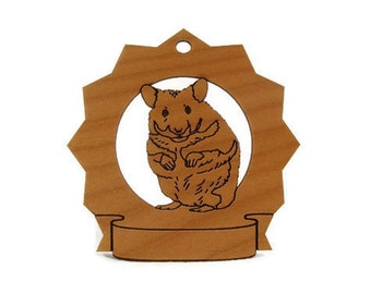 Hamster Personalized Wood Ornament Personalized with your Pet's Name