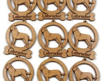 9 Mini Labrador Dog Ornaments