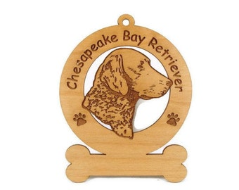2095 Chessie Head Personalized Wood Ornament