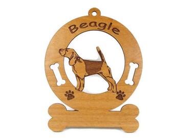1506 Beagle Stack Personalized Ornament