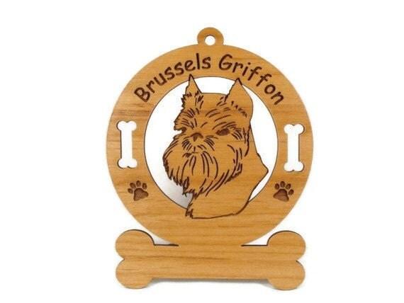 2005 Brussels Griffon Head Personalized Wood Ornament