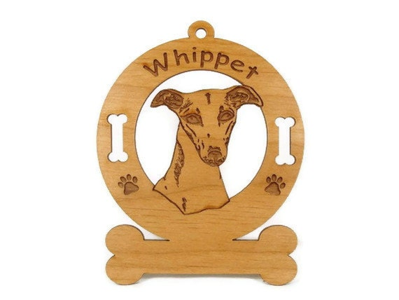 4226 Whippet Head Personalized Dog Ornament