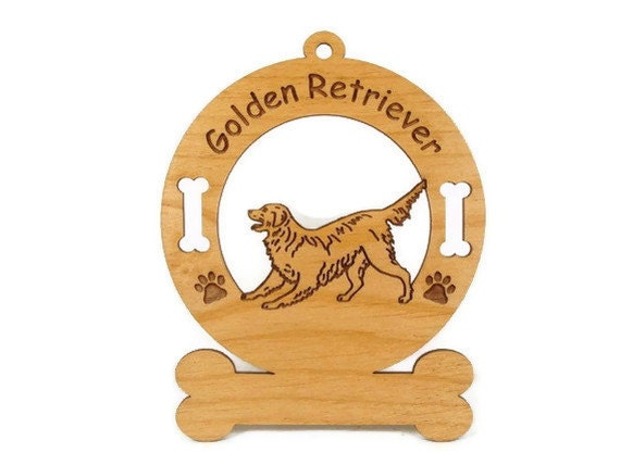 3263 Golden Retriever Playing Personalized Dog Ornament