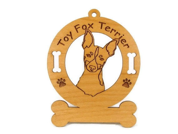 4183 Toy Fox Terrier Head Personalized Dog Ornament