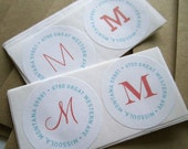 Return Address Labels - Monogram Medley (100qty)
