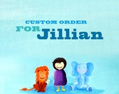 Custom Order for Jillian - 3 Wooden Play Blocks