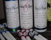 Unity Candle, Unity Candle Set, personalized, Wedding Candle, Monogram Unity Candle