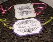 Wedding Sign or Banner - SET OF TWO Your choice of die cut shape and colors and monogram design