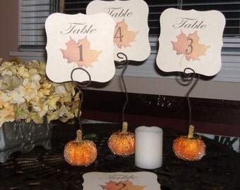 Fall Table Numbers - Set of 25