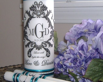 Unity Candle Set Damask