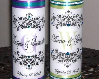 Personalized Unity Candle, Custom Unity Candle, Wedding Candle, Unity Candle Set