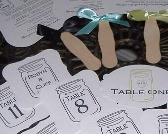 Mason Jar Table Numbers
